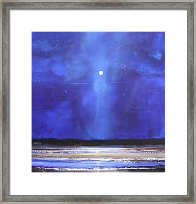 Blue Night Magic Framed Print by Toni Grote