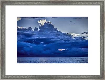 Blue On Blue Framed Print by Dave Bosse