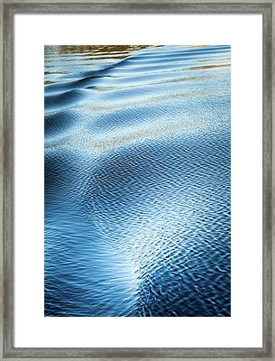 Framed Print featuring the photograph Blue On Blue by Karen Wiles