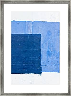 Blue Paint Framed Print by Tom Gowanlock