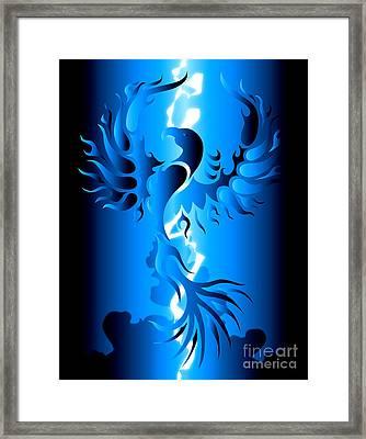 Blue Phoenix Framed Print by Robert Ball