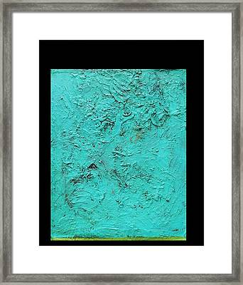Framed Print featuring the painting   Aqua Blue And Green No 11 Oil On Board 16 X 20  by Radoslaw Zipper