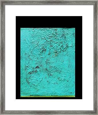 Aqua Blue And Green No 11 Oil On Board 16 X 20  Framed Print