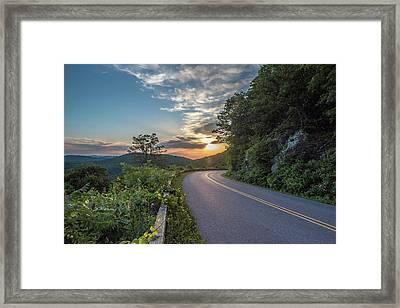 Blue Ridge Parkway Morning Sun Framed Print