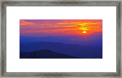 Blue Ridge Parkway Sunset, Va Framed Print