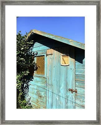 Blue Shed Framed Print by Tom Gowanlock