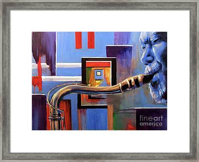 Blue Spaces Framed Print