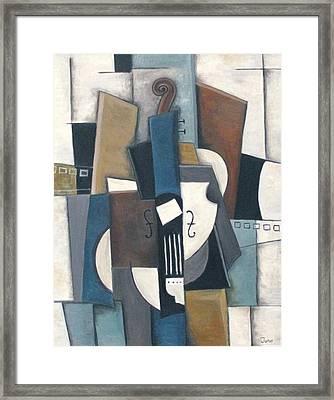 Blue Violin Framed Print