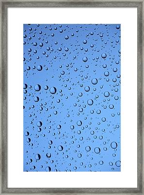 Blue Water Bubbles Framed Print by Frank Tschakert
