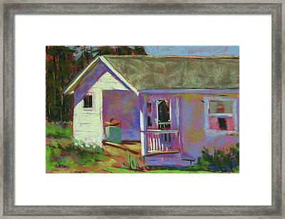 Blue Willow Farmers House Framed Print by Mary McInnis