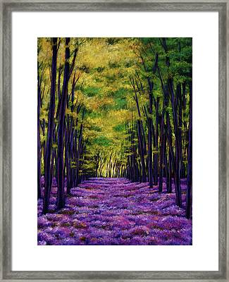 Bluebell Vista Framed Print by Johnathan Harris