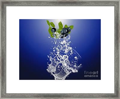 Blueberry Splash Framed Print