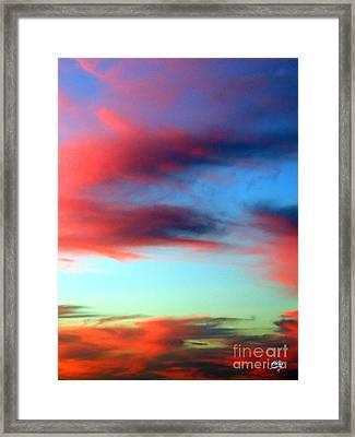 Blushed Sky Framed Print by Linda Hollis
