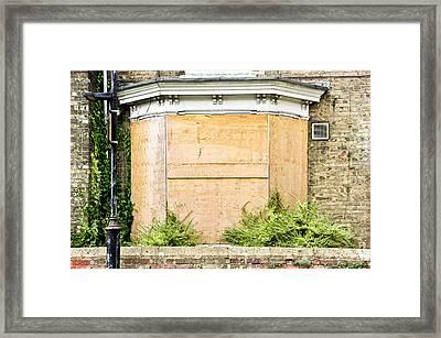 Boarded Up Framed Print by Tom Gowanlock