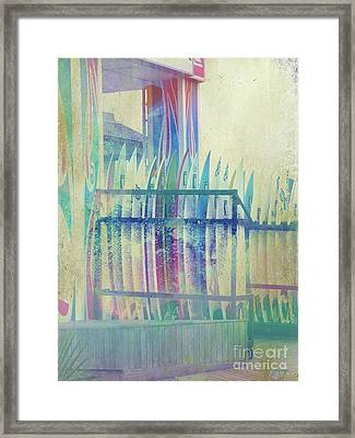 Boardwalk Framed Print