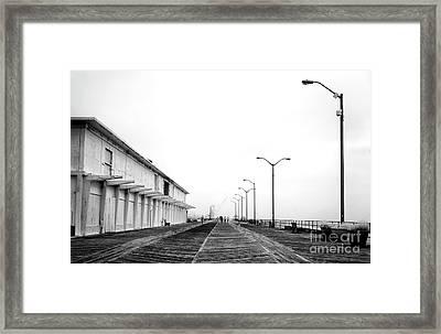 Asbury Park Boardwalk Morning Framed Print
