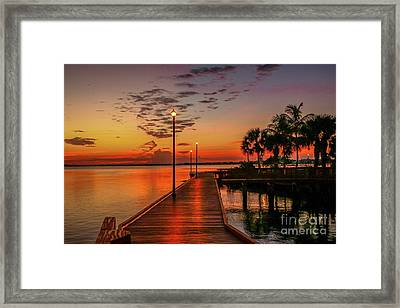 Boardwalk Sunrise Framed Print