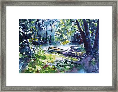 Framed Print featuring the painting Boat by Kovacs Anna Brigitta