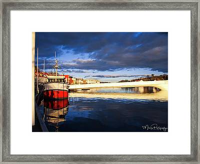 Boat On The River Framed Print
