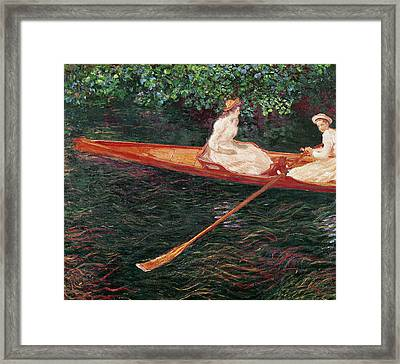 Boating On The River Epte Framed Print by Claude Monet