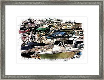 Boats And Yachts Framed Print
