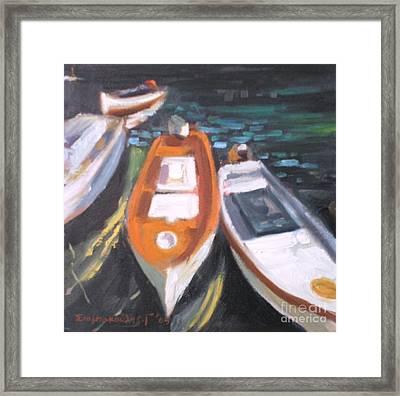 Boats Framed Print by George Siaba