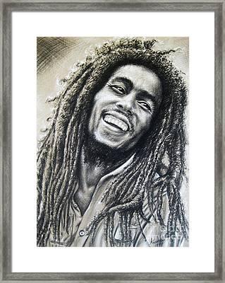Bob Marley Framed Print by Anastasis  Anastasi