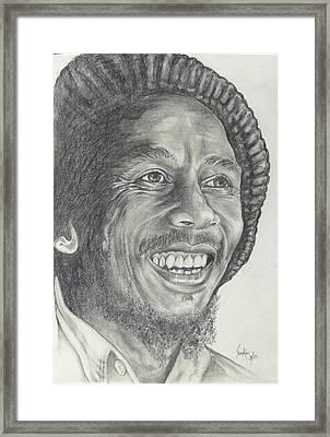 Bob Marley Framed Print by Stephen Sookoo
