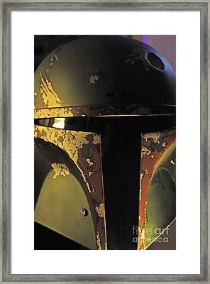 Boba Fett Helmet 20 Framed Print by Micah May