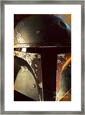 Boba Fett Helmet 21 Framed Print by Micah May