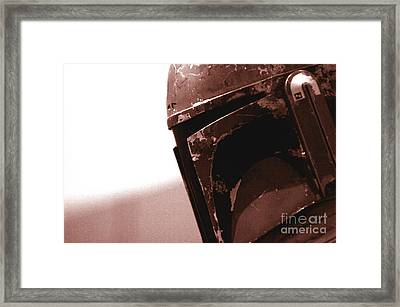 Framed Print featuring the photograph Boba Fett Helmet 32 by Micah May
