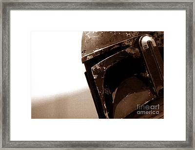 Framed Print featuring the photograph Boba Fett Helmet 33 by Micah May