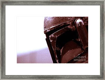 Framed Print featuring the photograph Boba Fett Helmet 34 by Micah May