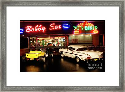 Bobby Sox 50's Diner Framed Print by Bob Christopher