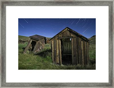 Bodie Ghost Town Outhouses Framed Print