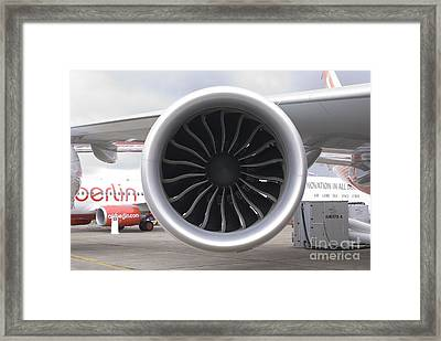 Boeing 747-8 Engine Framed Print by Mark Williamson
