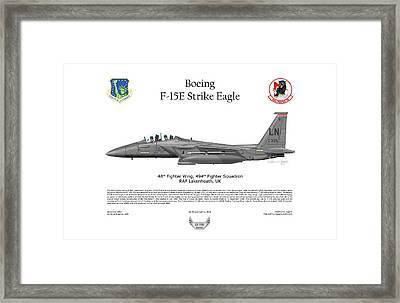 Boeing F-15e Strike Eagle Framed Print