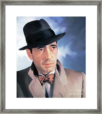 Bogart Framed Print by Greg Joens