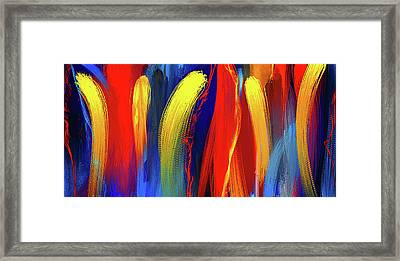 Be Bold - Primary Colors Abstract Art Framed Print by Lourry Legarde