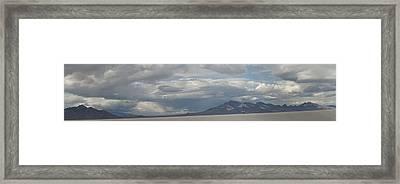 Framed Print featuring the photograph Bonneville Salt Flats by Daniel Hebard