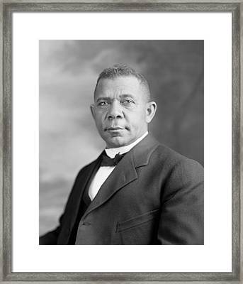 Booker T. Washington Framed Print by War Is Hell Store