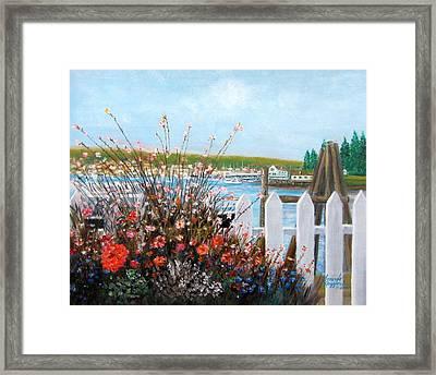 Boothbay Harbor Maine Framed Print