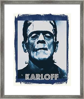 Boris Karloff Framed Print by John Springfield