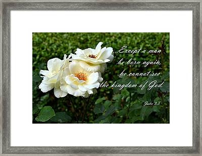 Born Again Framed Print