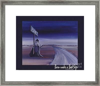 Born Under A Bad Sign Framed Print by Lizi Beard-Ward