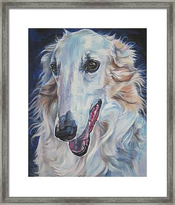 Borzoi Framed Print by Lee Ann Shepard
