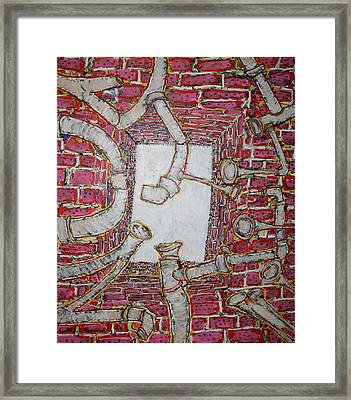Bosque Powerhouse Framed Print by Ray  Petersen