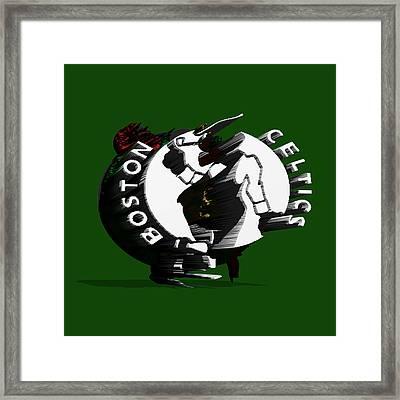 Boston Celtics Framed Print by Brian Reaves