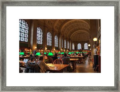 Framed Print featuring the photograph Boston Public Library by Joann Vitali