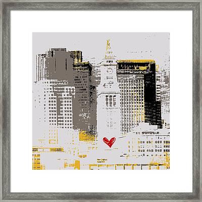 Boston Skyline 1 Framed Print by Brandi Fitzgerald